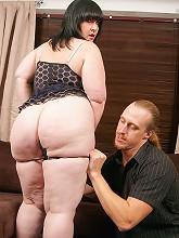 Busty fat brunette got banged