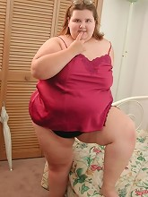 Naughty Hot BBW in Nice Red Lingerie...